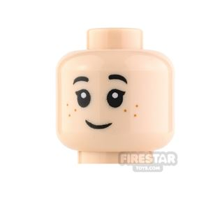 LEGO Mini Figure Heads - Freckles with Smile and Frown