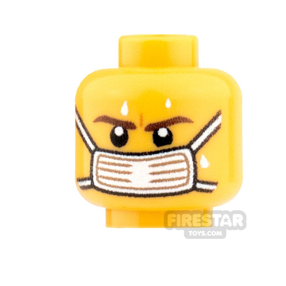 Custom Minifigure Heads Surgical Face Mask Male