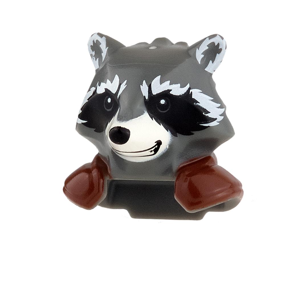 LEGO Mini Figure Heads - Rocket Raccoon - Smile