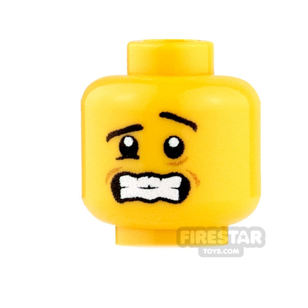 Custom Minifigure Heads - Shivering - Yellow