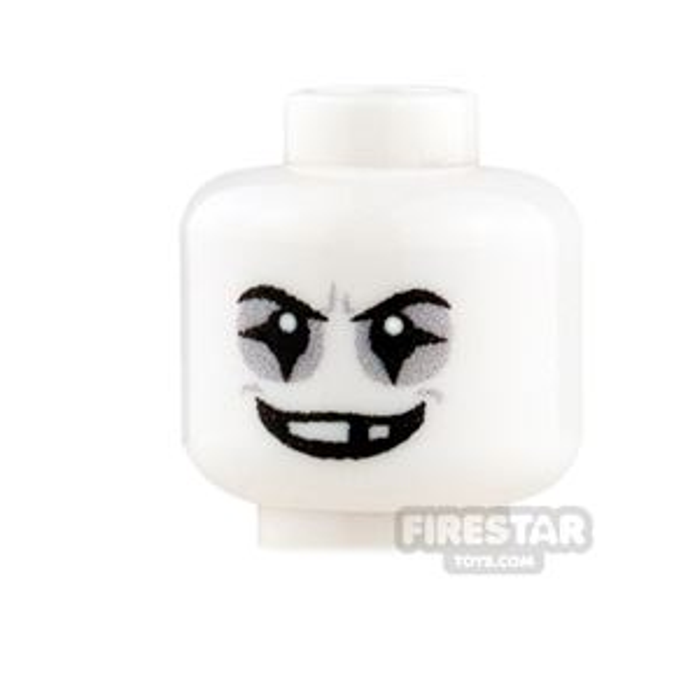 Custom Minifigure Heads - Evil Mime - 2