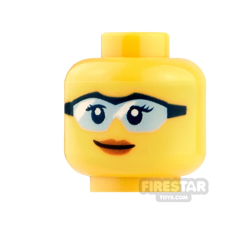 LEGO Mini Figure Heads - Blue Goggles