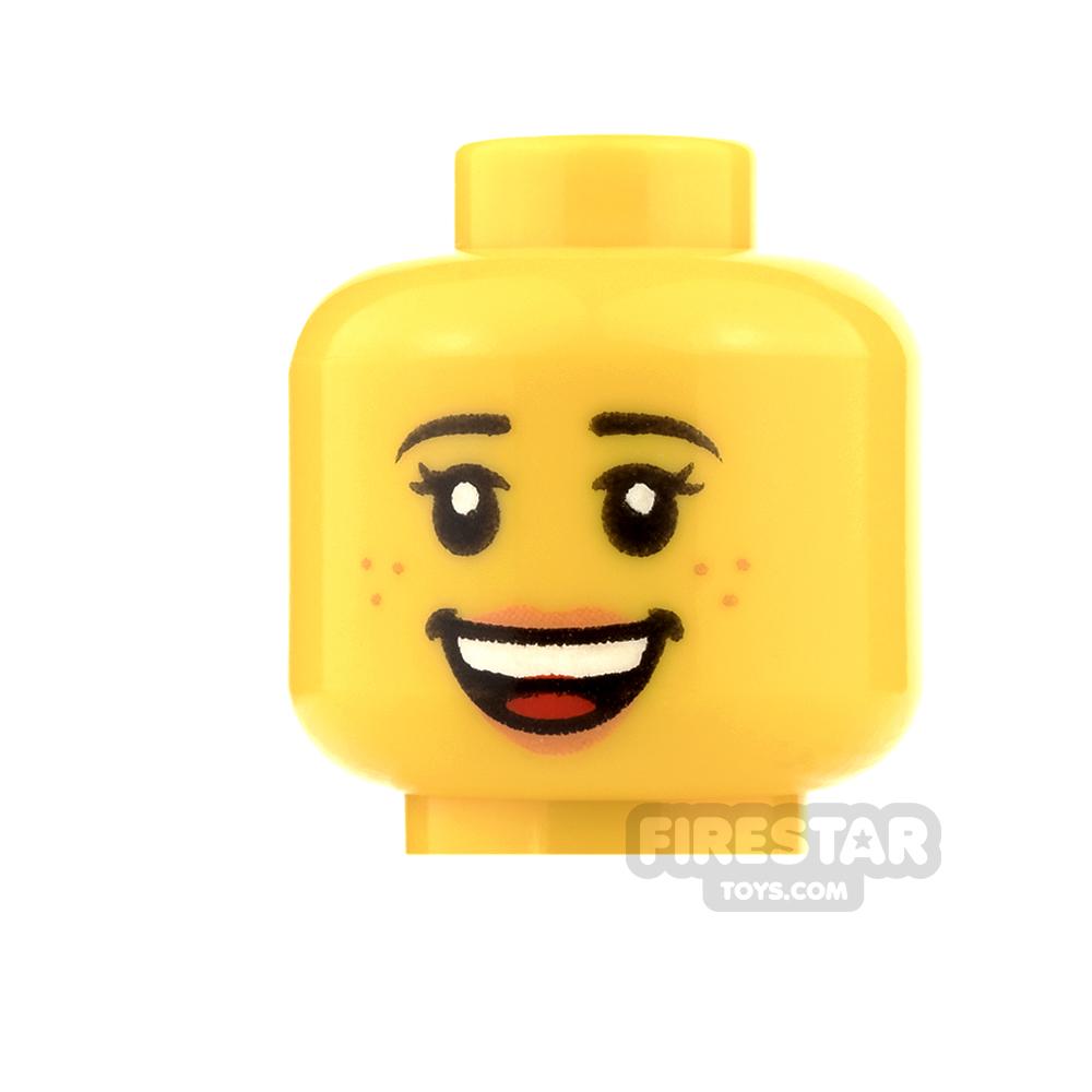 LEGO Mini Figure Heads - Open Smile / Sleeping