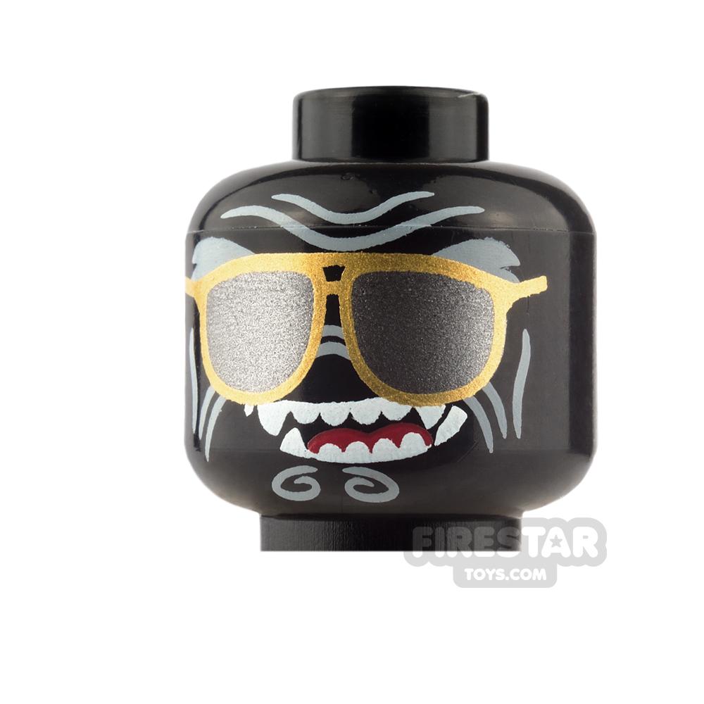 LEGO Mini Figure Heads - Sunglasses and Fangs