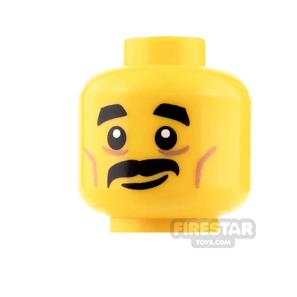 LEGO Mini Figure Heads - Moustache and Smile