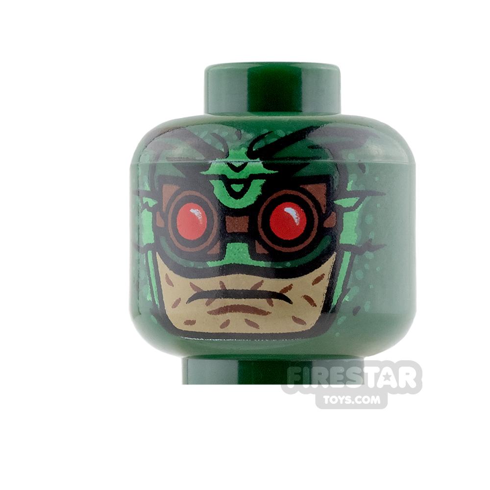 LEGO Mini Figure Heads - Parademon - Dark Green