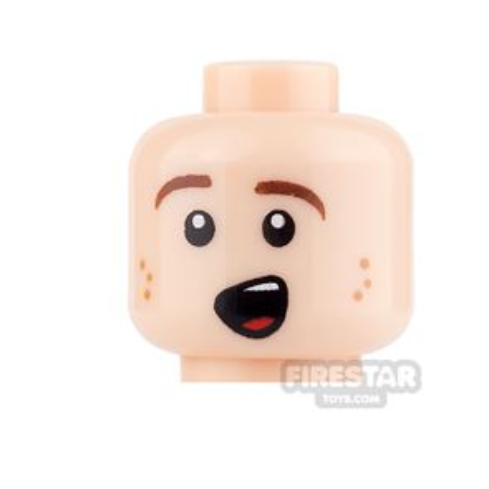 LEGO Mini Figure Heads - Excited Smile