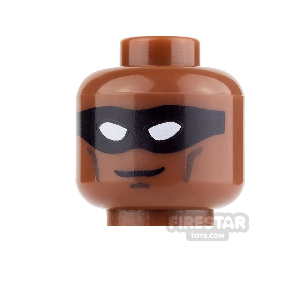 LEGO Mini Figure Heads - Black Mask and Smile