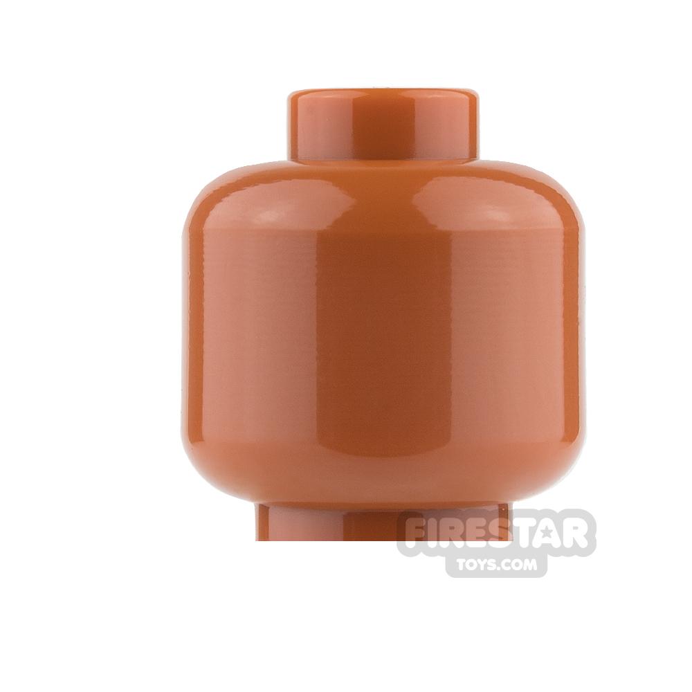 LEGO Mini Figure Heads - Plain Dark Orange