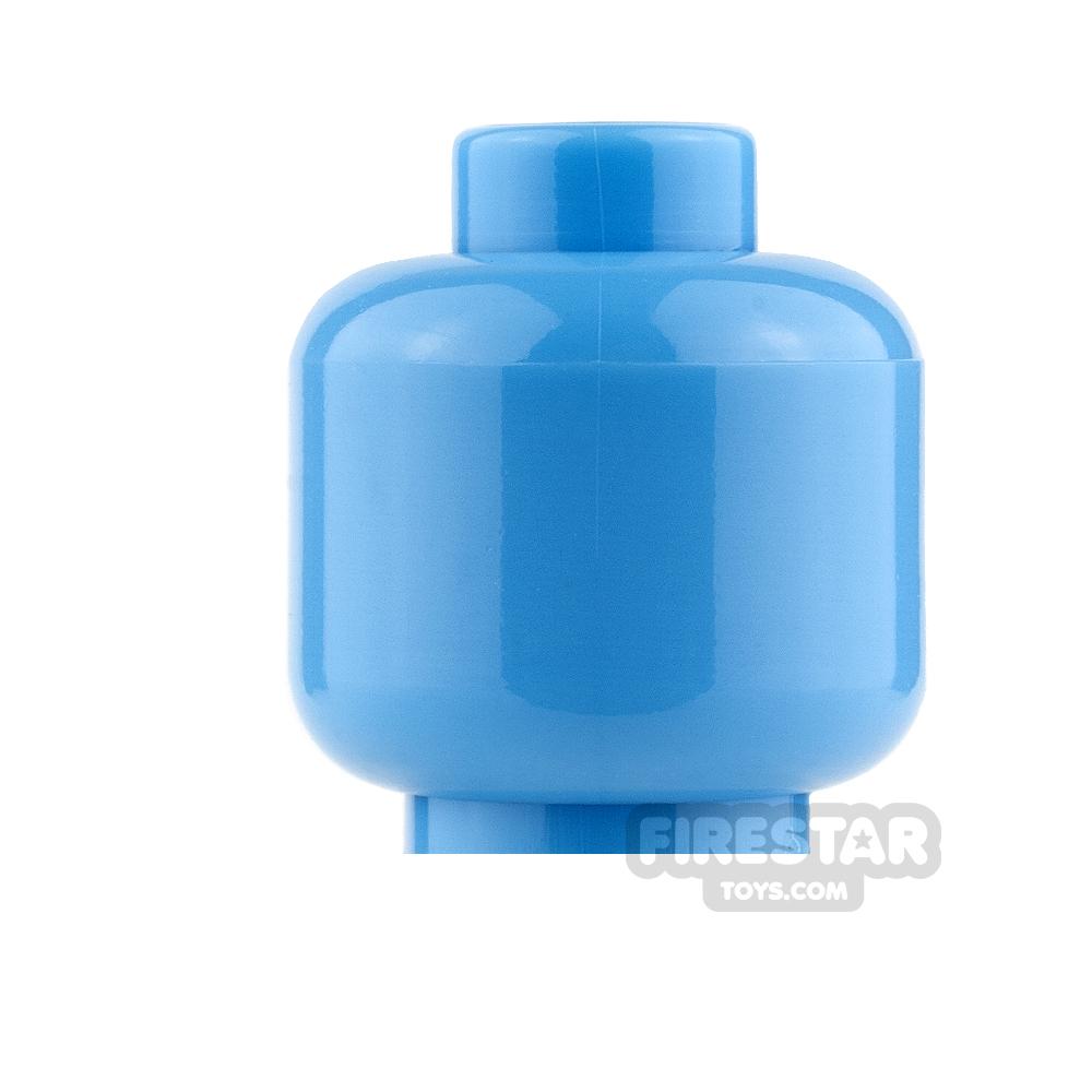 LEGO Mini Figure Heads - Plain Medium Blue