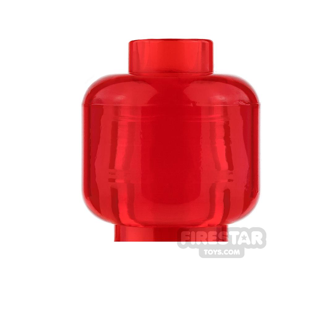 LEGO Mini Figure Heads - Plain Trans Red