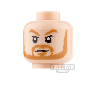 LEGO Mini Figure Heads - Thor - Neutral / Angry with Lighting Eyes