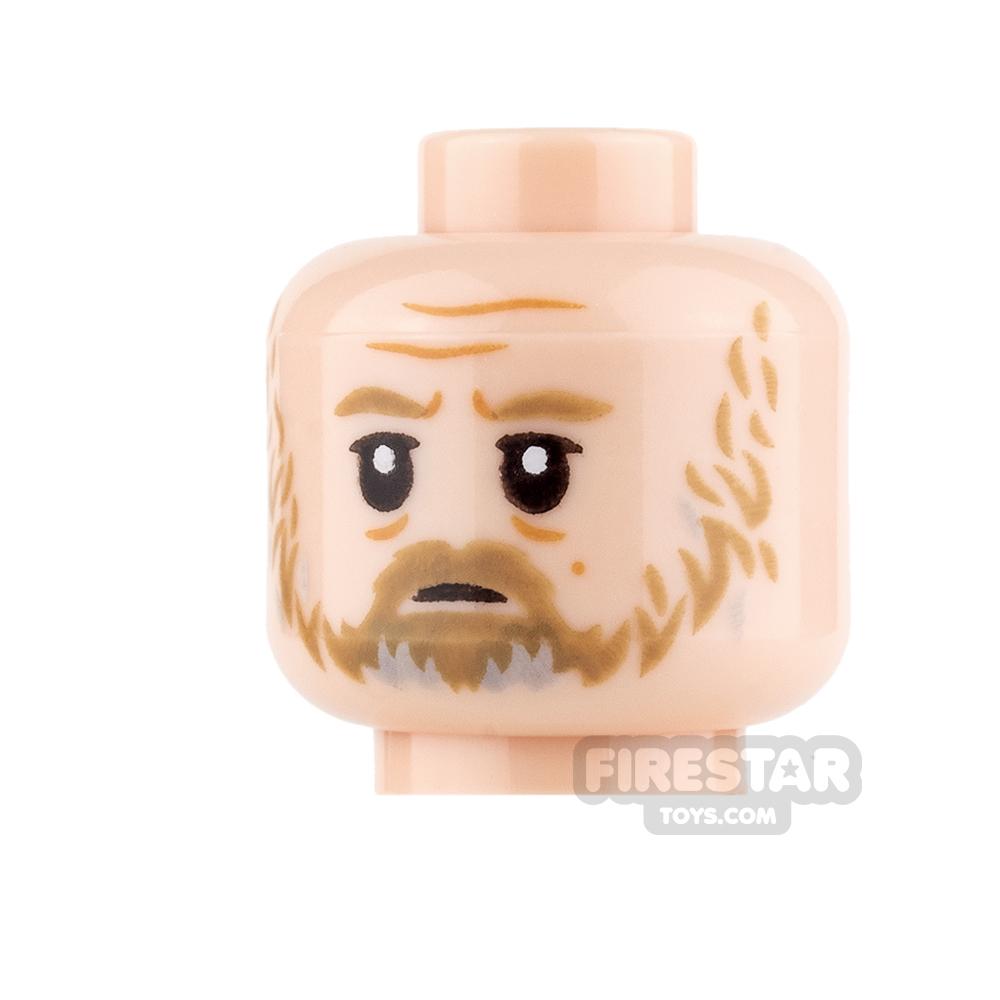 LEGO Mini Figure Heads - Luke Skywalker - Sad / Angry