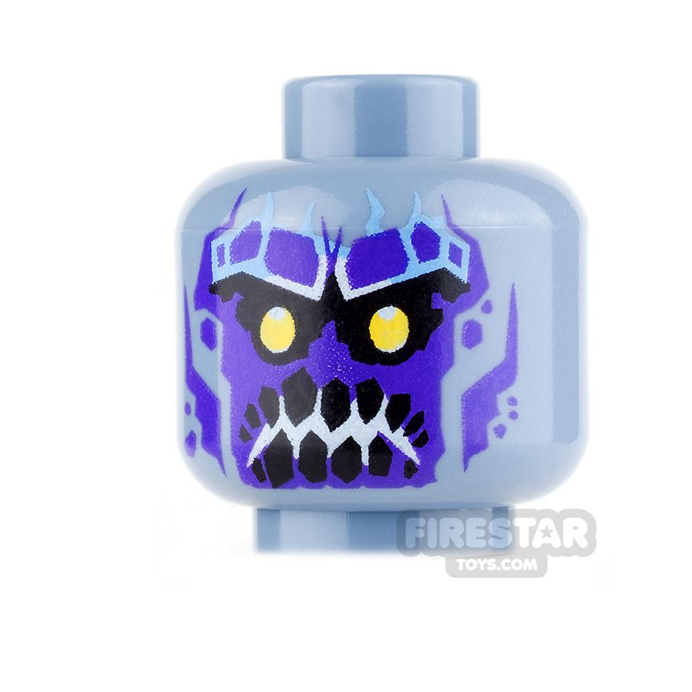 LEGO Mini Figure Heads - Gargoyle - Smile with Teeth Showing / Angry