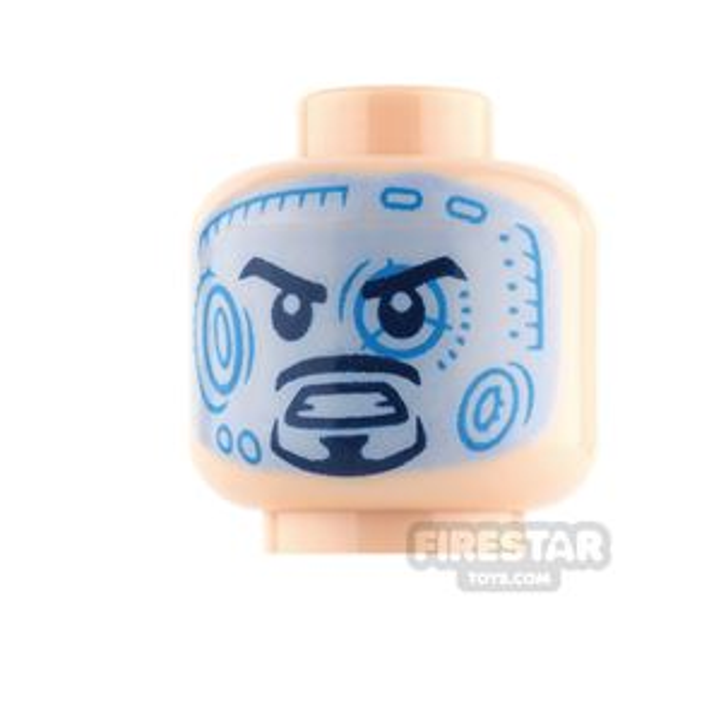 LEGO Mini Figure Heads Tony Stark Neutral and Digital Interface