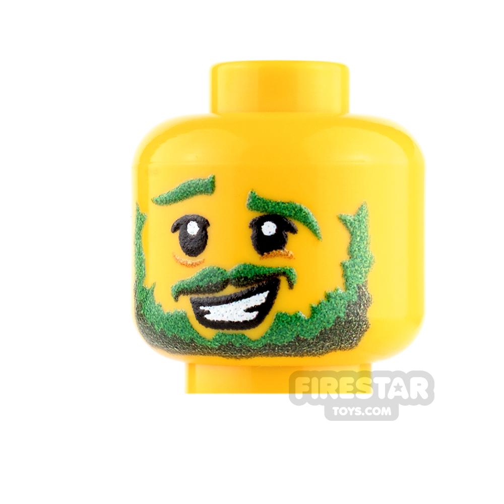 Custom Minifigure Heads - St Patrick's Day Reveler - Male - Yellow