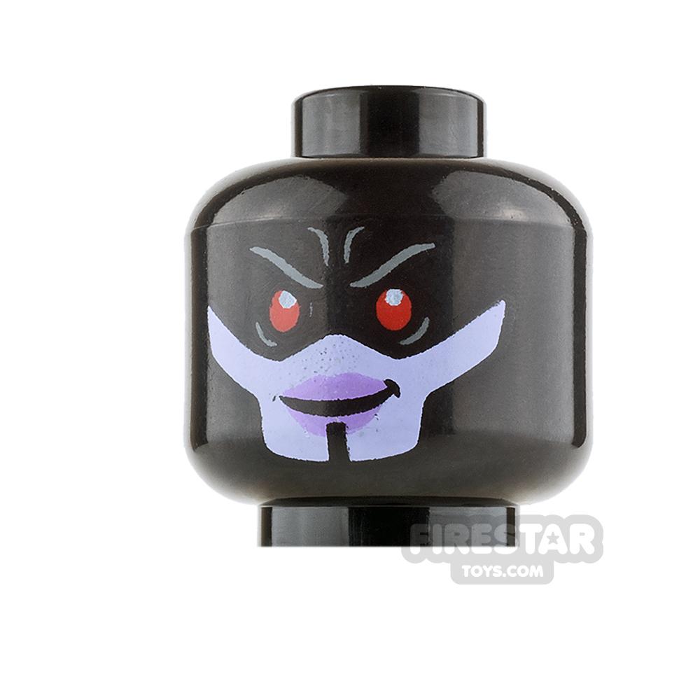 LEGO Mini Figure Heads - Proxima Midnight - Angry / Evil Smile