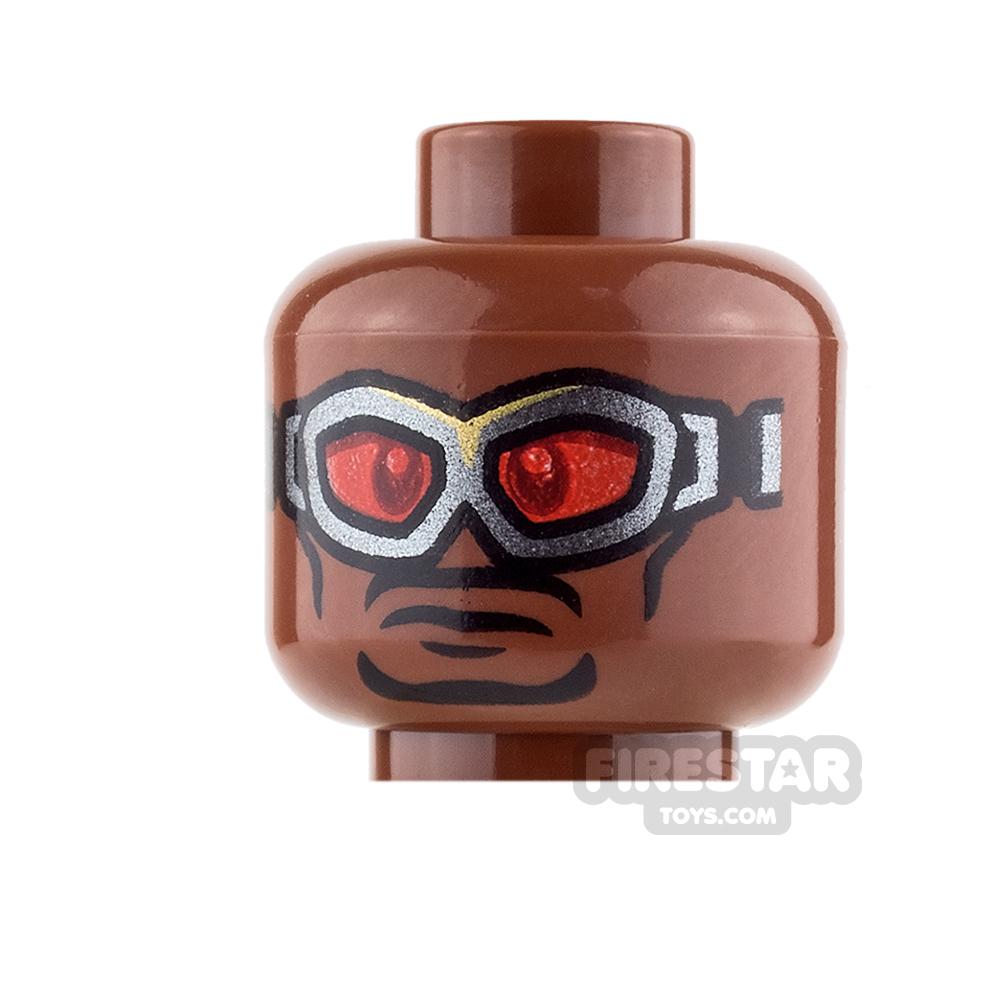 LEGO Mini Figure Heads - Falcon - Grin / Serious with Goggles