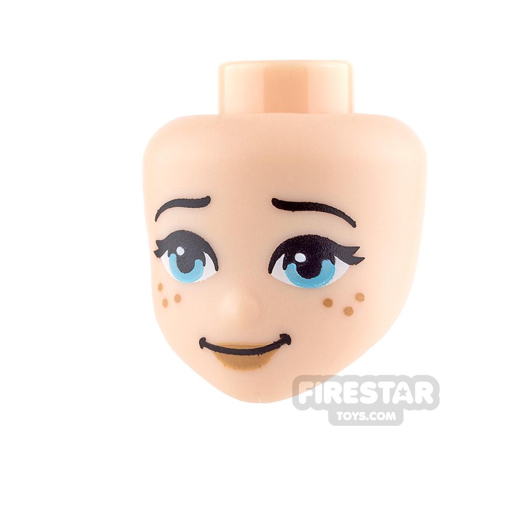 LEGO Elves Mini Figure Heads - Medium Azure Eyes and Freckles