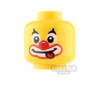 LEGO Mini Figure Heads - Clown with Tongue Sticking Out