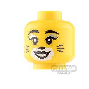 LEGO Mini Figure Heads - Female with Cat Whiskers