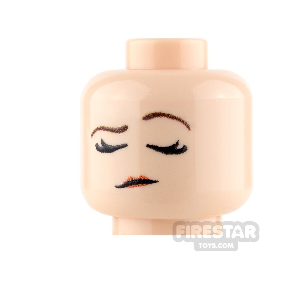 Custom Minifigure Heads - Arrogant - Female - Light Flesh