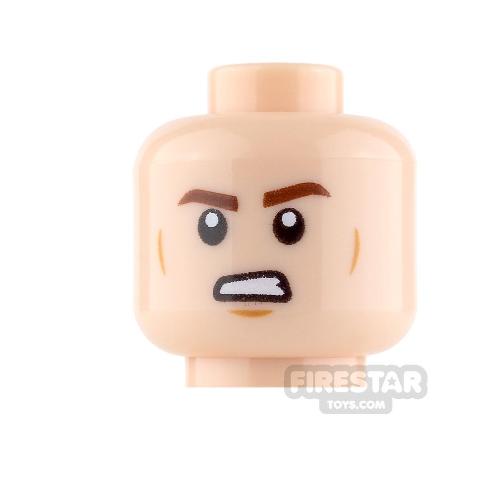 LEGO Mini Figure Heads - Han Solo - Smile / Angry