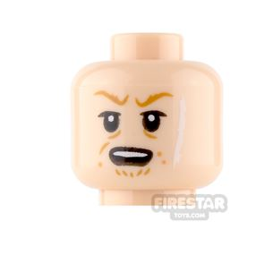 LEGO Mini Figure Heads - Rebolt - Scar and Frown / Open Mouth