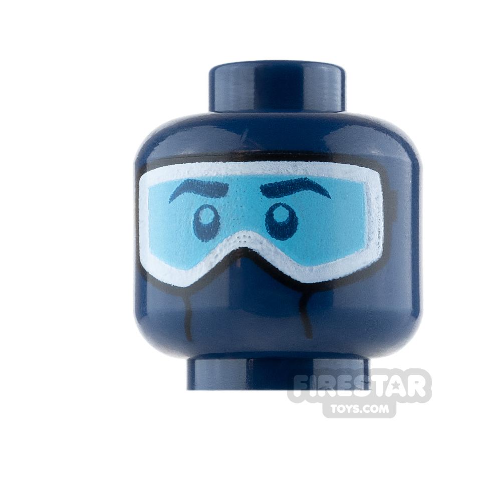 LEGO Mini Figure Heads - Dark Blue Ski Mask with Goggles