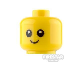 LEGO Mini Figure Heads - Baby - Smiling - with Neck