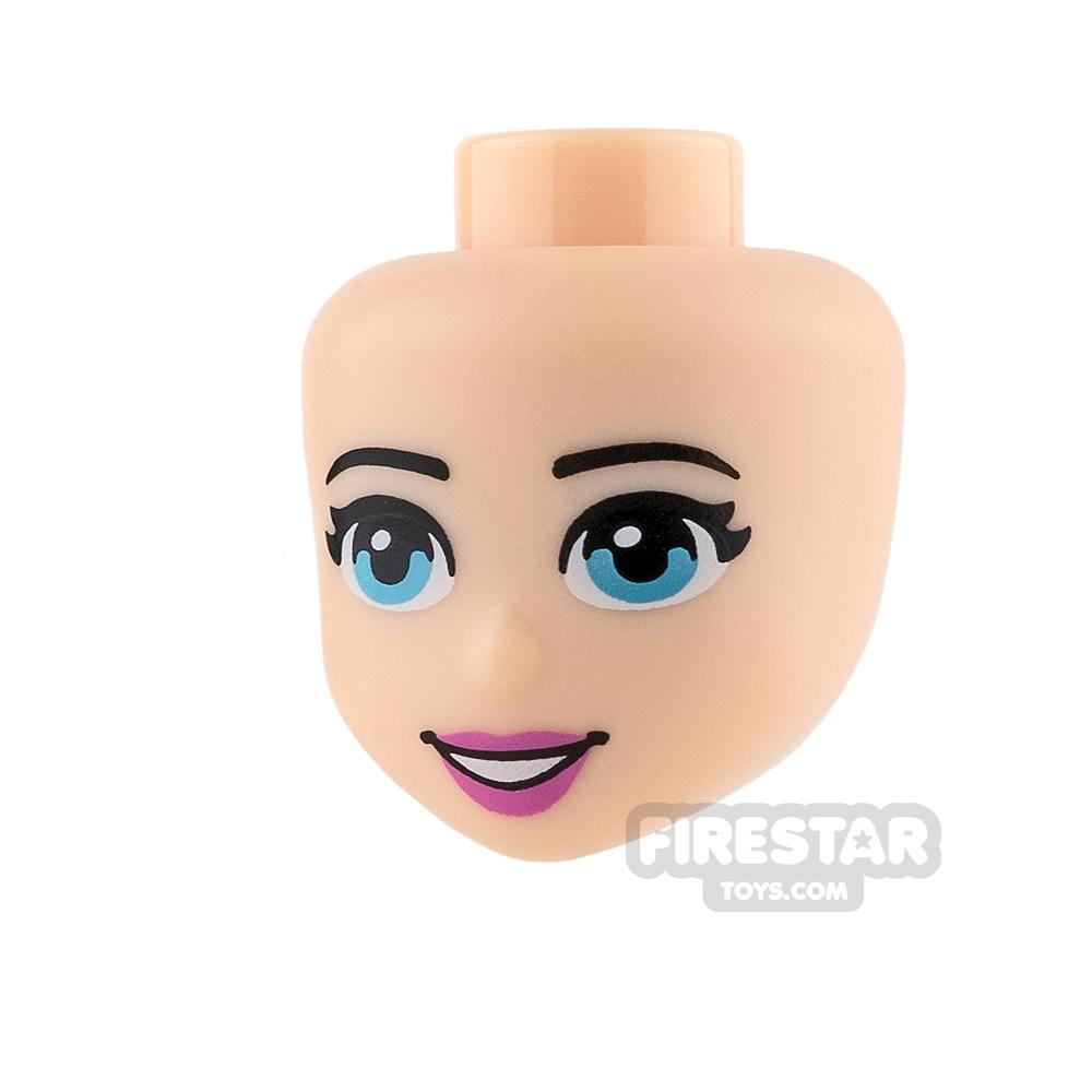 LEGO Friends Mini Figure Heads - Blue Eyes and Pink Lips