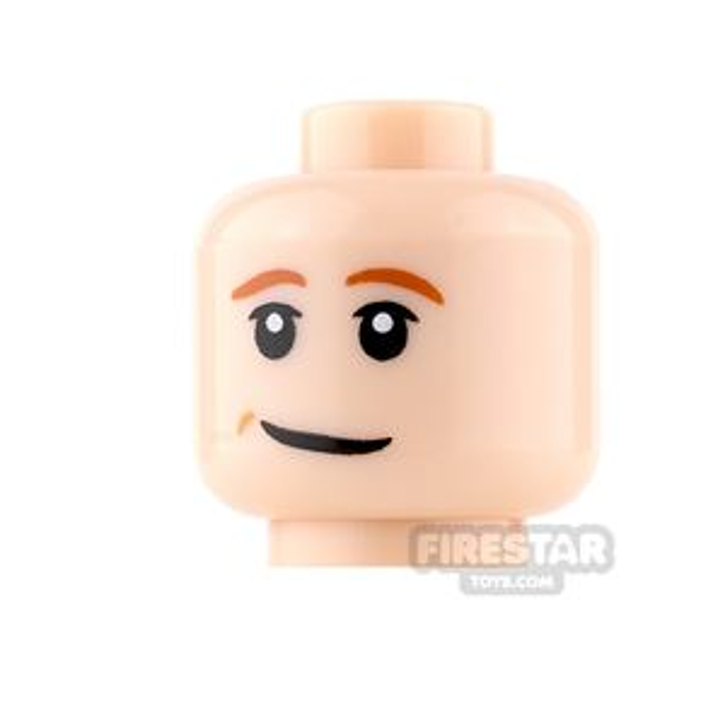 LEGO Mini Figure Heads - Smile and Orange Eyebrows