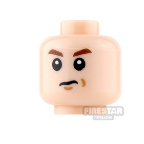 LEGO Mini Figure Heads - Frown with Cheek Dimples