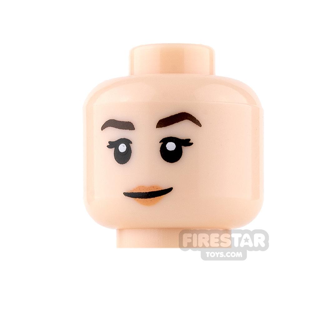 LEGO Mini Figure Heads - Smile with Peach Lips