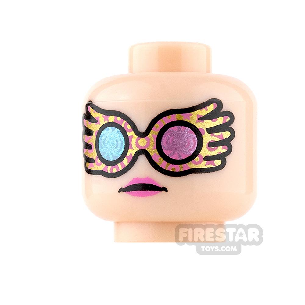 LEGO Mini Figure Heads - Colourful Glasses and Pink Lips