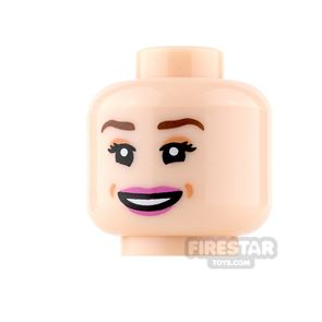 LEGO Mini Figure Heads - Grin with Pink Lips