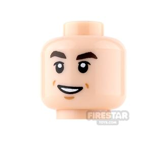 LEGO Mini Figure Heads - Grin with Cheek Dimples