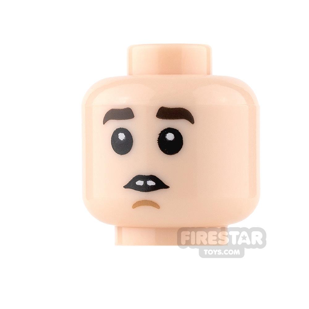 LEGO Mini Figure Heads - Worried and Sleeping