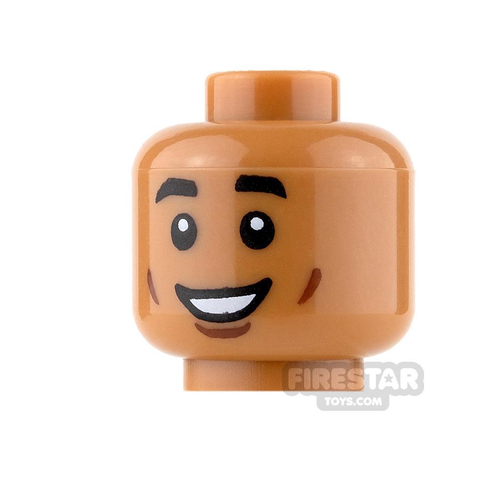 LEGO Mini Figure Heads - Grin with Cheek Lines