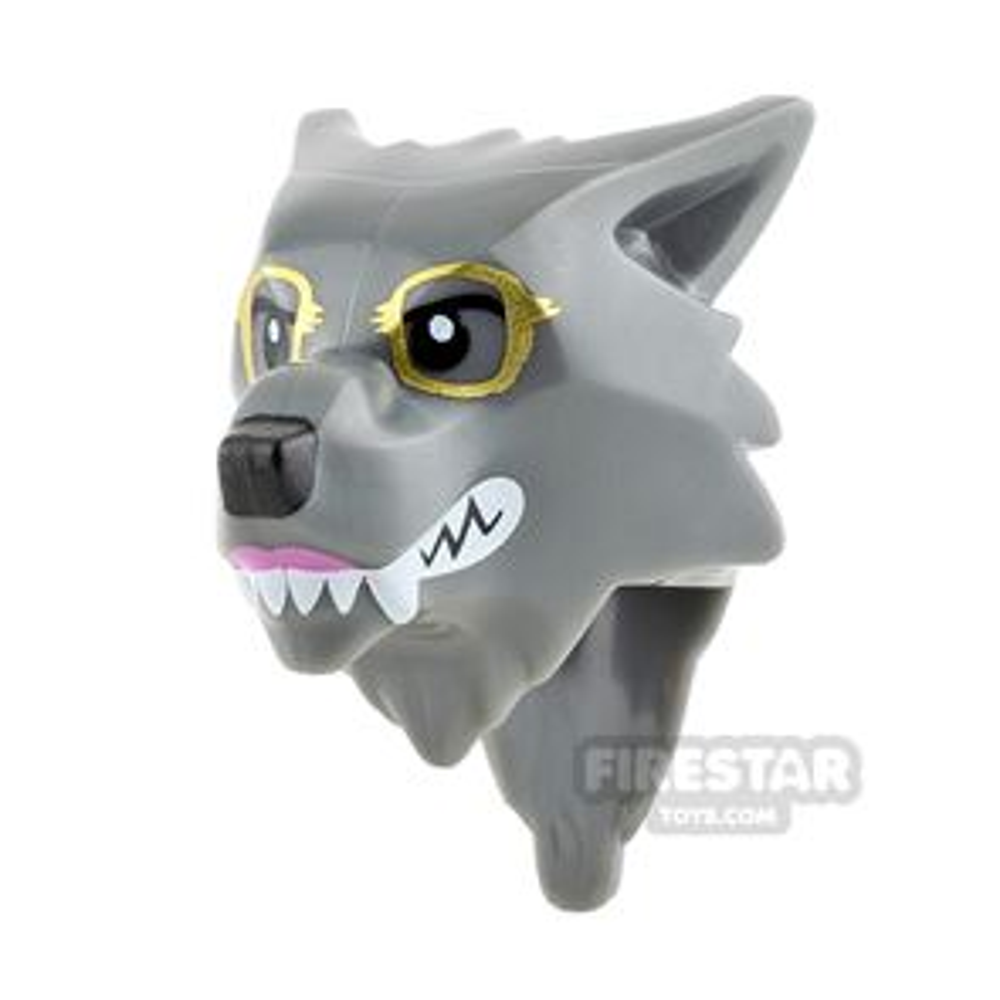 LEGO Mini Figure Heads - Werewolf with Glasses