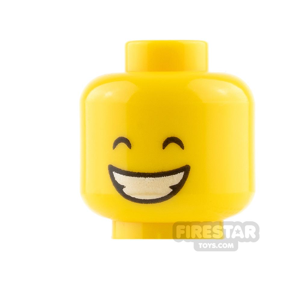 LEGO Mini Figure Heads - Smile and Closed Eyes