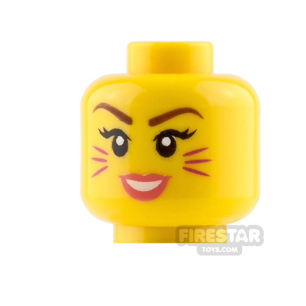 LEGO Mini Figure Heads Cat Whiskers