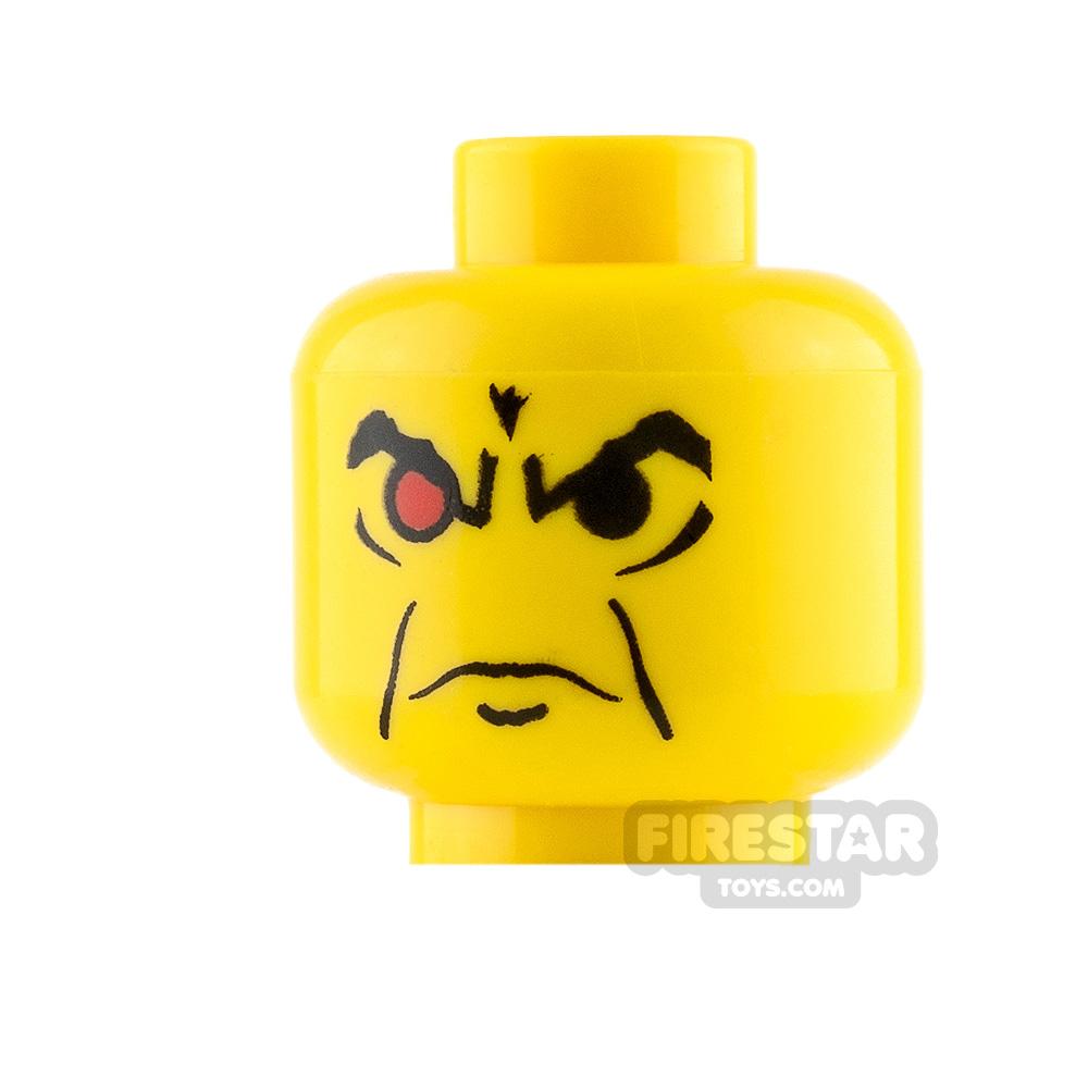 LEGO Mini Figure Heads - Red Eye