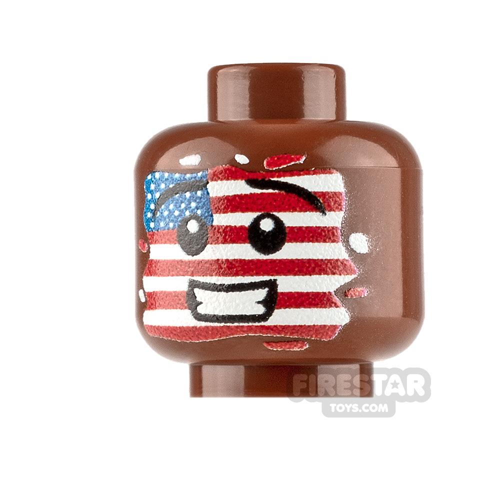 Custom Minifigure Heads American Face Paint Boy