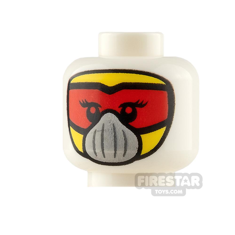 LEGO Minifigure Heads Balaclava with Red Goggles