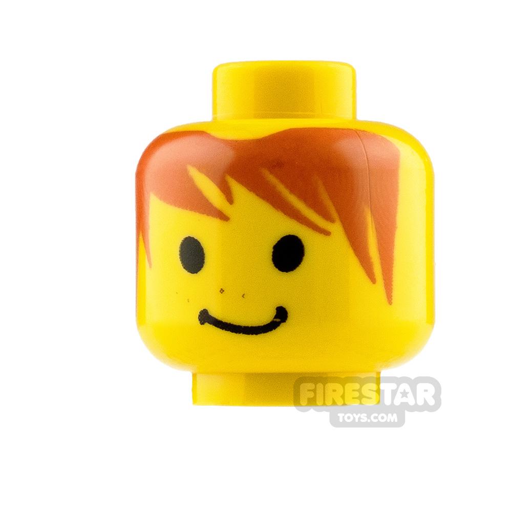 LEGO Minifigure Heads Messy Orange Hair