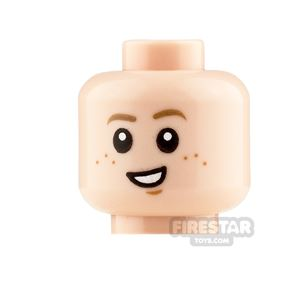 LEGO Minifigure Heads Crooked Smile and Concerned