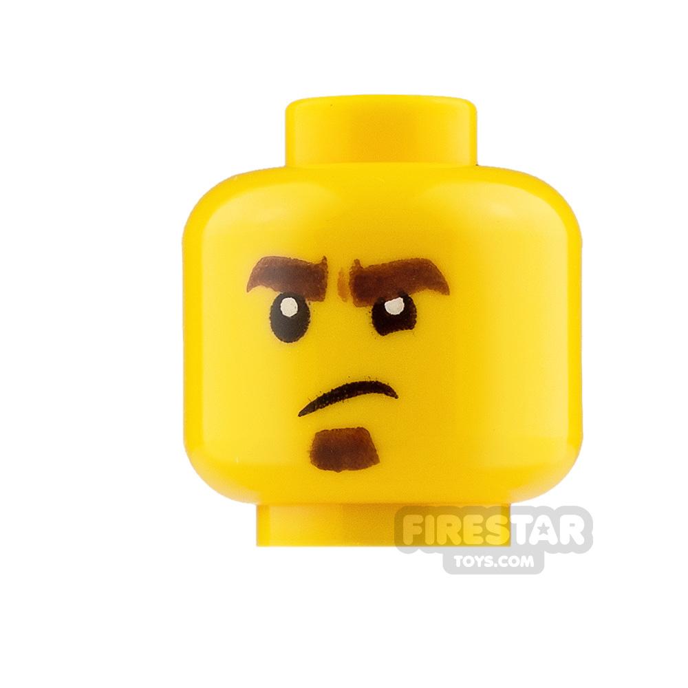 LEGO Mini Figure Heads Smile and Upset with Goatee
