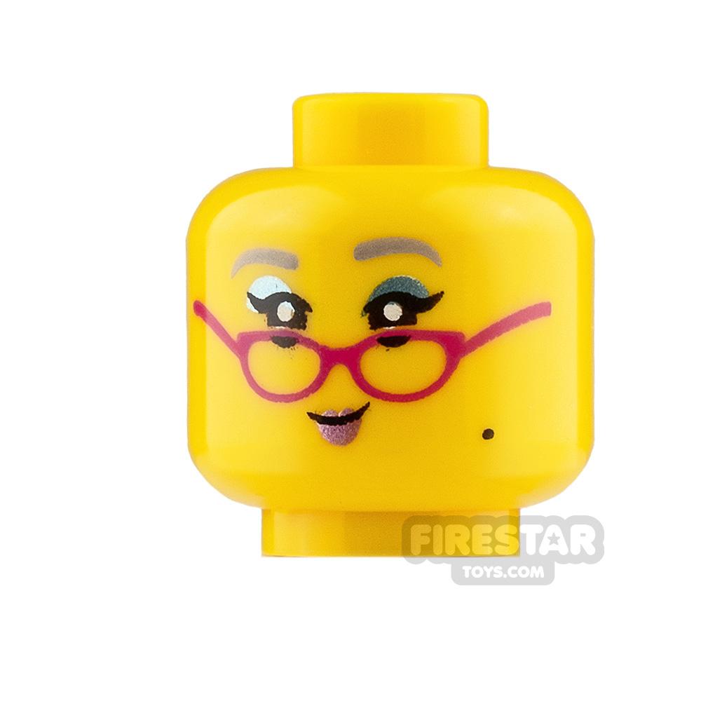 LEGO Mini Figure Heads Small Smile with Glasses