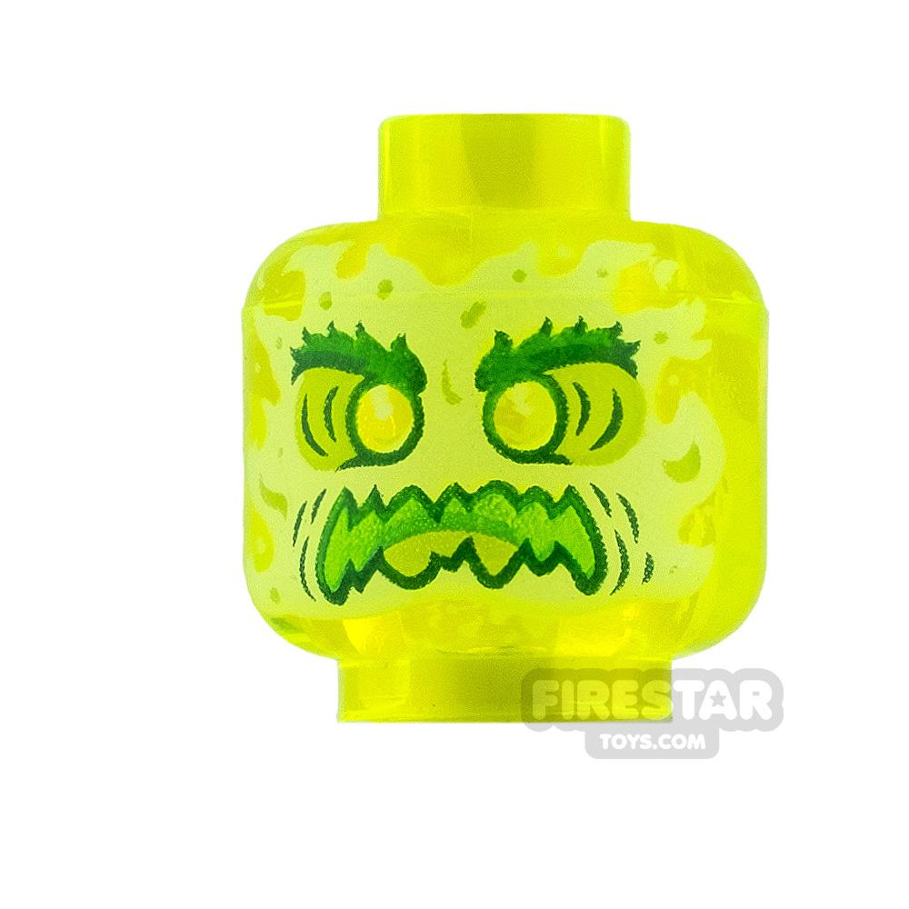 LEGO Mini Figure Heads Slime Ghost with Bushy Eyebrows